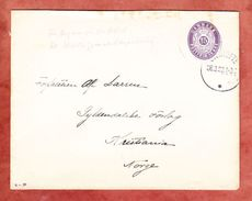 U 26 Krone, Gentofte? Nach Kristiania, AK-Stempel 1920 (41880) - Enteros Postales