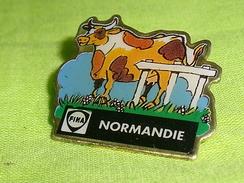 Pin's / Villes , Régions : Vache , Fina , Normandie  TB2S - Cities