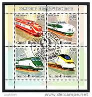 GUINEE-BISSAU 2006, Yvert 2162/65, TRAINS A GRANDE VITESSE, 4 Valeurs, Oblitérés. R1487 - Trains