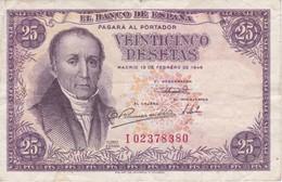 BILLETE DE ESPAÑA DE 25 PTAS DEL 19/02/1946 SERIE I  CALIDAD MBC (VF) (BANKNOTE) - [ 3] 1936-1975 : Regency Of Franco