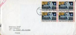 1- ETATS UNIS Premier Homme Sur La Lune 1969 - First Man On The Moon 1969- Voyagée - FDC
