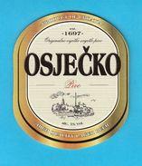 OSJECKO BEER - Croatian Beer Coaster Beercoaster Bière Bier Cerveza Birra Mat Sous-bock Bierdeckel Sottobicchiere - Sous-bocks
