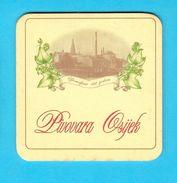 OSIIJEK BREWERY - Croatian Beer Coaster Beercoaster Bière Bier Cerveza Birra Mat Sous-bock Bierdeckel Sottobicchiere - Bierdeckel