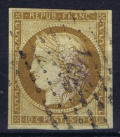 France: Yv Nr 1 A Obl./Gestempelt/used  PC 1495 Le Havre - 1849-1850 Ceres