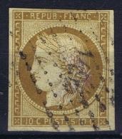 France: Yv Nr 1 A Obl./Gestempelt/used  PC 1495 Le Havre - 1849-1850 Cérès