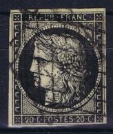 France: Yv Nr 3 A Obl./Gestempelt/used  Grille - 1849-1850 Ceres