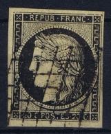 France: Yv Nr 3 B Obl./Gestempelt/used  Grille - 1849-1850 Ceres