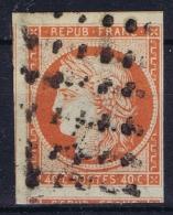 France: Yv Nr 5 A Obl./Gestempelt/used  Signed/ Signé/signiert Calves - 1849-1850 Cérès