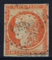 France: Yv Nr 5 A Obl./Gestempelt/used  PC 1495 Le Havre A Petit Plié /reparé En Dessous - 1849-1850 Cérès