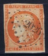 France: Yv Nr 5 A Obl./Gestempelt/used  PC 2026 Montclar  Some Damage - 1849-1850 Cérès