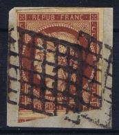 France: Yv Nr 6 B Obl./Gestempelt/used   Grille - 1849-1850 Cérès