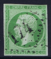 France: Yv Nr 12 A Obl./Gestempelt/used  GC 174 Arras - 1853-1860 Napoleon III