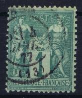 France: Yv Nr 61 I Obl./Gestempelt/used - 1876-1878 Sage (Type I)