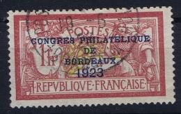 France: Yv Nr 182 Obl./Gestempelt/used  1923   Congrès De Bordeaux - Frankreich