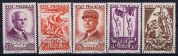 France Yv Nr 576 - 580  Obl./Gestempelt/used  1943 - Francia
