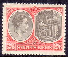 ST KITTS_NEVIS 1938 SG #76 2sh6d MH Perf.13 CV £32 - St.Christopher-Nevis-Anguilla (...-1980)