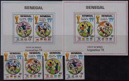 Soccer Football Senegal #671/4 + Bl 31/2 1978 World Cup Argentina MNH ** - World Cup