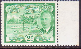 ST KITTS_NEVIS 1952 SG #95 2c MNH - St.Christopher-Nevis-Anguilla (...-1980)