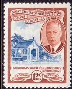 ST KITTS_NEVIS 1952 SG #100 12c MNH - St.Christopher-Nevis-Anguilla (...-1980)
