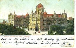 INDIA - BOMBAY - VICTORIA TERMINUS G.I.P. RAILWAY 1906 - India