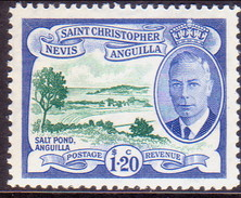 ST KITTS_NEVIS 1952 SG #104 $1.20 MNH - St.Christopher-Nevis-Anguilla (...-1980)