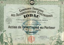 IODAC - Compagnie Francaise Des ACCUMULATEURS ÉLECTRIQUES - Electricité & Gaz