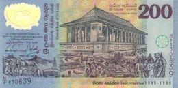 SRI LANKA 200 RUPEES 1998 P-114b UNC COMM. BLACK S/N [LK121a] - Sri Lanka