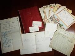 Boek Met 73 Telegrammen Brugge 1950 Café 't Putje Sint Andries Trouw Crepain - Danneels + Menu + 2x Naamkaartje + Speech - Stamped Stationery