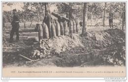 Guerre De 1914-1915 - Artillerie Lourde Francaise - Obus Et Mortier De Siege De 220 - Weltkrieg 1914-18