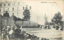 MONACO - LAWN TENNIS - CPA ANIMEE - VOIR SCANS - Monaco