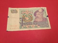 5 KRONOR SUÉDOIS 1978 (TB) - Suède
