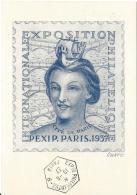 FRANCE 1937 CARTE POSTALE PEXIP - France