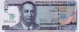 "PHILIPPINES 100 PISO (PESOS) 2012 P-213a UNC COMMEMORATIVE ""MANILA HOTEL"" [PH1068a] - Philippines"