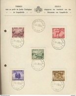 Souvenir 16-8-1939  ZOO De Léopolville  Yv. 209-213  Cote 40 € En Oblitéré Normaux - Congo Belge