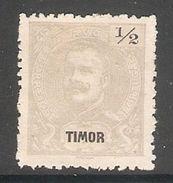 005738 Timor 1898 Carlos 1/2 Avo Mint - Timor