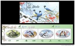 North Korea 2016 Mih. 6289/92 Fauna. Birds (booklet) MNH ** - Korea, North