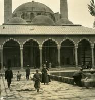 Moyen Orient Syrie Damas Mosquée Ancienne Stereo Photo NPG 1900 - Stereoscopic
