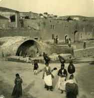 Moyen Orient Israel Nazareth Fontaine De La Vierge Marie Ancienne Stereo Photo NPG 1900 - Stereoscopic