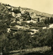 Moyen Orient Jerusalem Eglise Russe Orthodoxe Mont Des Oliviers Ancienne Stereo Photo NPG 1900 - Stereoscopic
