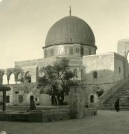 Moyen Orient Israel Jerusalem Mosquée D'Omar Ancienne Stereo Photo NPG 1900 - Stereoscopic