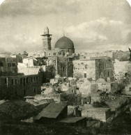 Moyen Orient Israel Jerusalem Le Quartier Juif Ancienne Stereo Photo 1900 - Stereoscopic