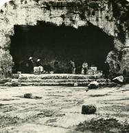 Moyen Orient Israel Jerusalem Sépulture Tombeau Des Rois Ancienne Stereo Photo 1900 - Stereoscopic