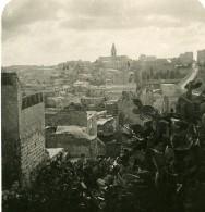 Moyen Orient Israel Jerusalem Panorama Depuis Les Remparts Ancienne Stereo Photo 1900 - Stereoscopic