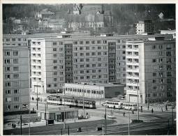 Allemagne De L'Est Chemnitz Tramway Angle De Wilhelm Pieck & Helmut Just Strasse Ancienne Photo 1965 - Places