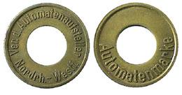 04628 GETTONE TOKEN JETON FICHA DISPENSER MACHINE AUTOMATENMARKE VER. D. AUTOMATENAUFSTELLER Nordrh.-Westf. - Germania