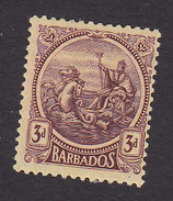 Barbados, Scott #162, Mint Hinged, Seal Of The Colony, Issued 1921 - Barbados (...-1966)