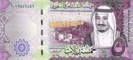 SAUDI ARABIA 5 RIYALS 2016 P-NEW UNC [SA516a] - Saudi Arabia