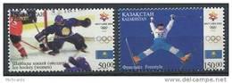 102 KAZAKHSTAN 2002 - JO Hiver Salt Lake City Hockey Ski - Neuf Sans Charniere (Yvert 301/02) - Kazakhstan