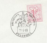 1969 BELGIUM COVER EVENT Pmk Illus HORSE, POSTPHILA ,  Stamps - Horses