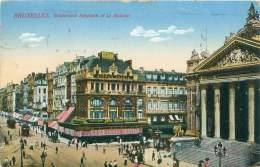 BRUXELLES - Boulevard Anspach Et La Bourse - Avenues, Boulevards